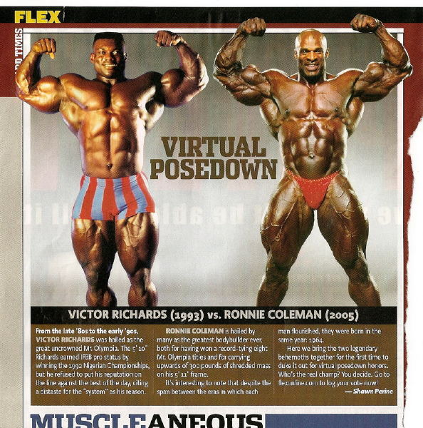 Victor Richards vs. Ronnie Coleman