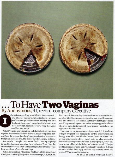 This Thread Is About A Woman With Two Vaginas...
