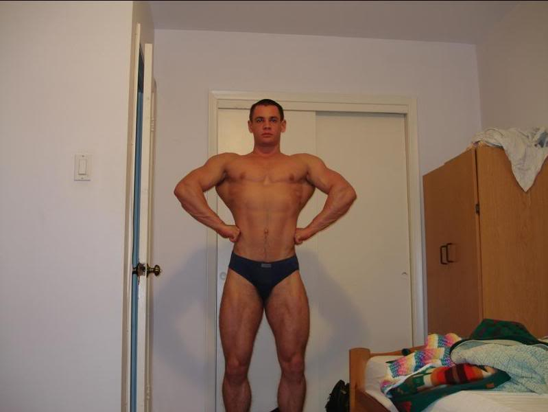16 weeks out front & side shots @ 198 lbs