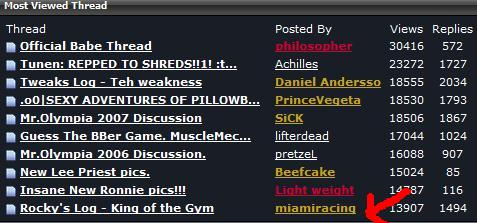 Tunen's log about to become the most viewed thread on MuscleMecca.com