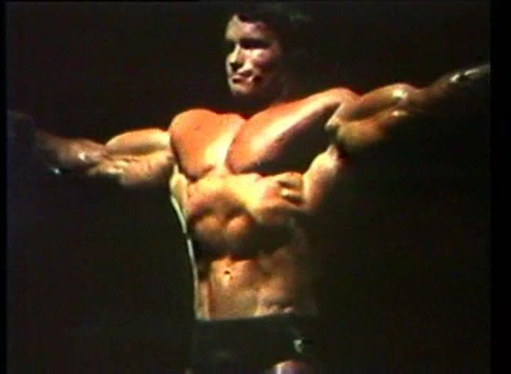 Arnold Schwarzenegger Age 23 Years Old Guest Posing in U.S.A.