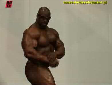 Ronnie Coleman posing at FIBO