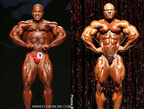 Victor (07' Mr. Olympia) vs. Phil (08' Ironman)
