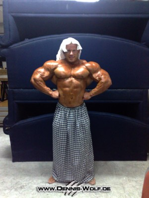 Dennis today at the The Second Al Fereei Al Khaleei-Bodybuilding Championship Kuwait