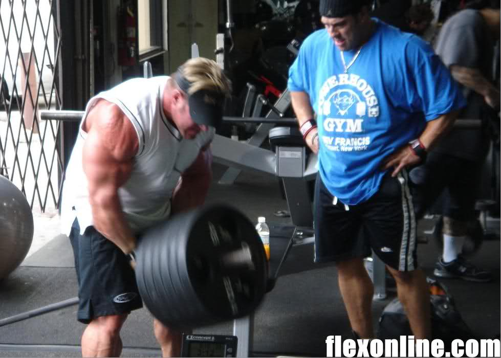 New: Jay training hard for the Mr.Olympia 2008