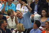 Bush drunk at Olympic Games...