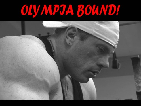 Dennis Wolf prepares for the Mr.Olympia 2008