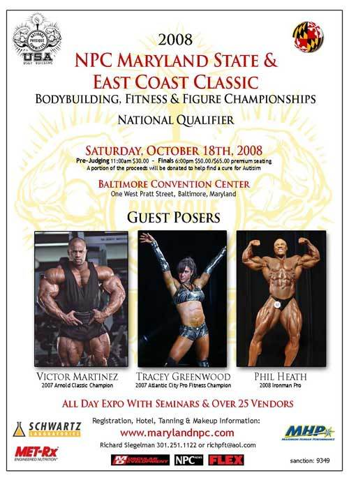 Victor Martinez & Phil Heath guestposing at Maryland State/East Coast Classic BB