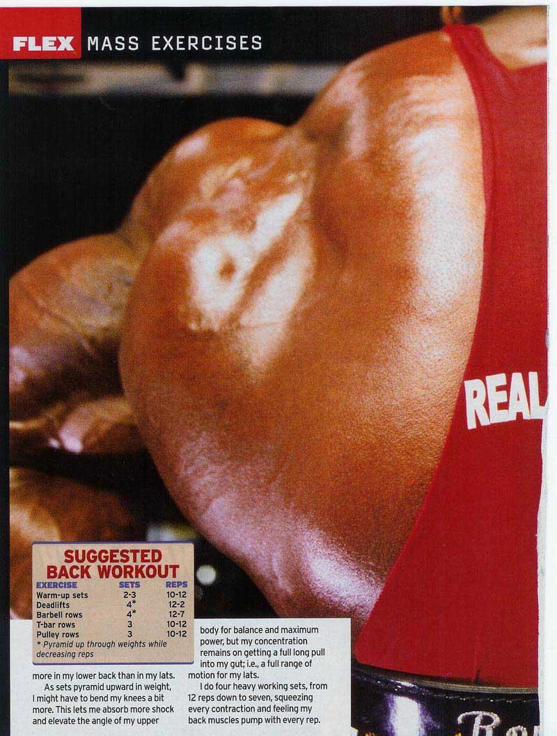 "RONNIE COLEMAN - ""6 EXERCISES FOR MASS"" - FLEX MAGAZINE - JUNE 05"