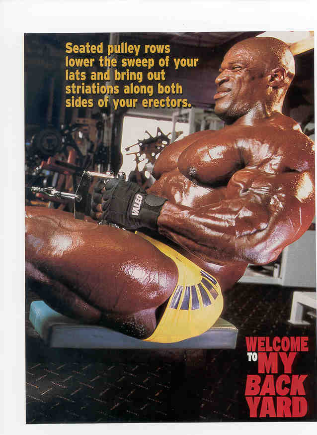 RONNIE COLEMAN ARTICLE - OLYMPIAN BACK - FLEX MAGAZINE - SEPTEMBER 02