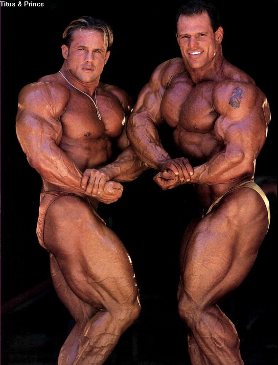 OLD PICS - TOM PRINCE AND CRAIG TITUS TRAINING TOGETHER