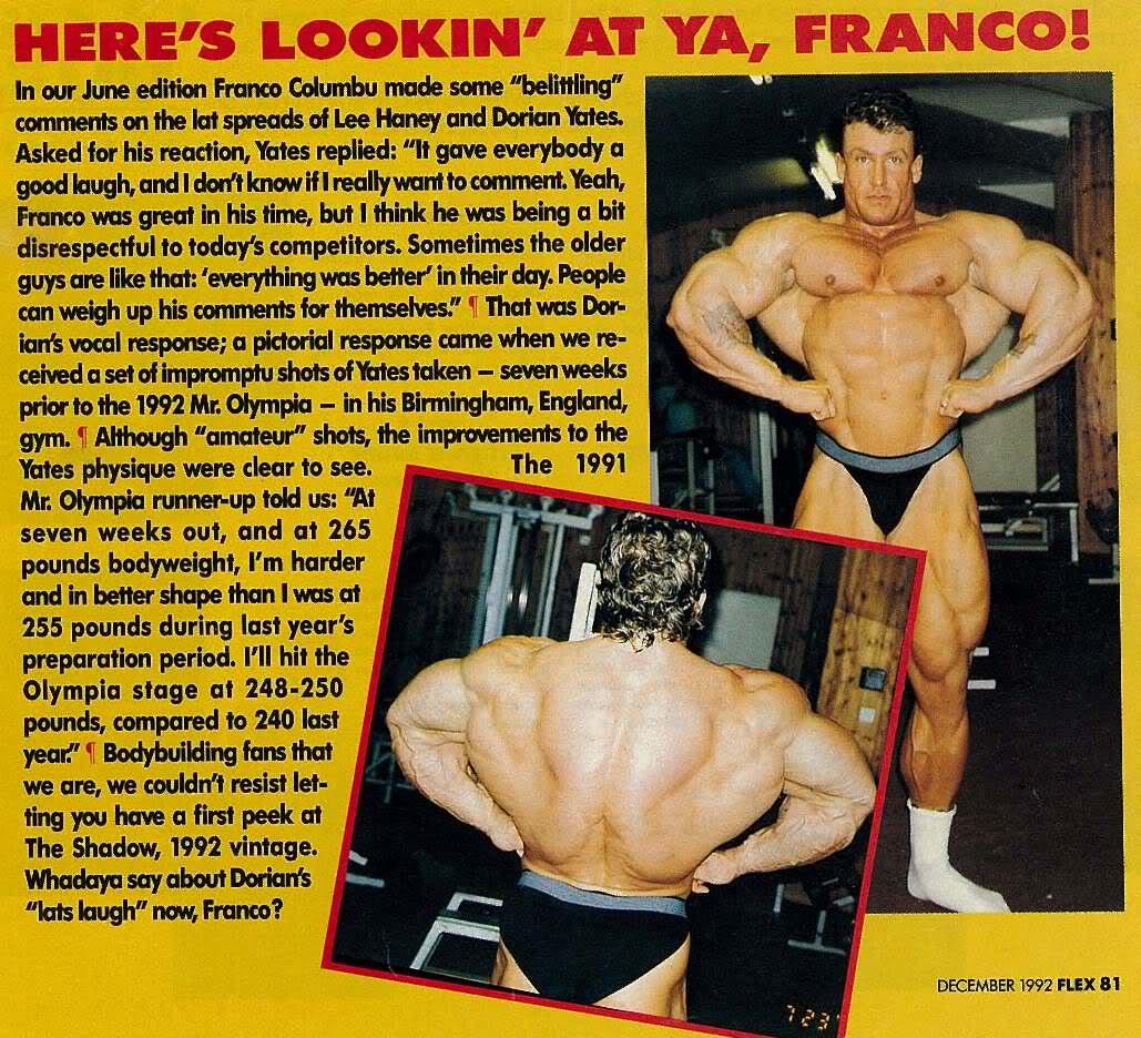 Dorian Yates 1992 pre Olympia pics