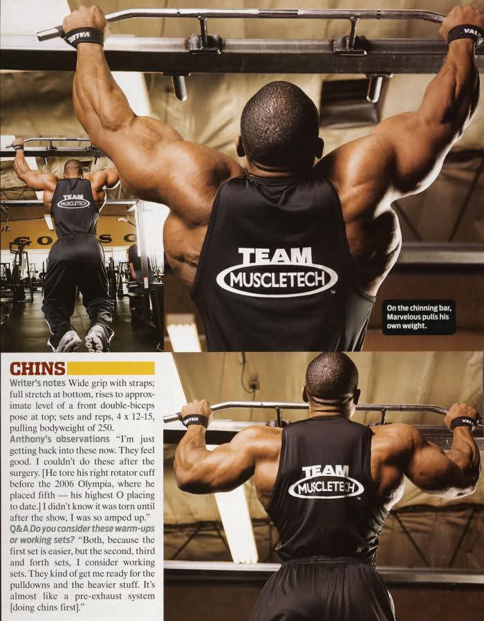 Melvin Anthony back training scans