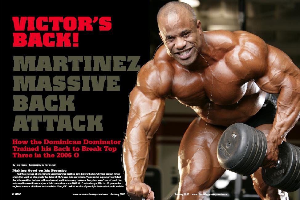 OLD MD SCANS - VICTOR'S BACK! MARTINEZ MASSIVE BACK ATTACK - January 2007