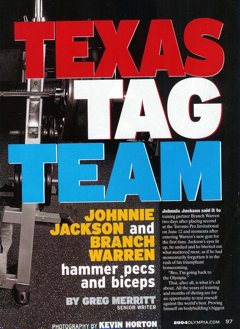BRANCH WARREN VS JOHNNIE JACKSON - 2 GREAT ARTICLES