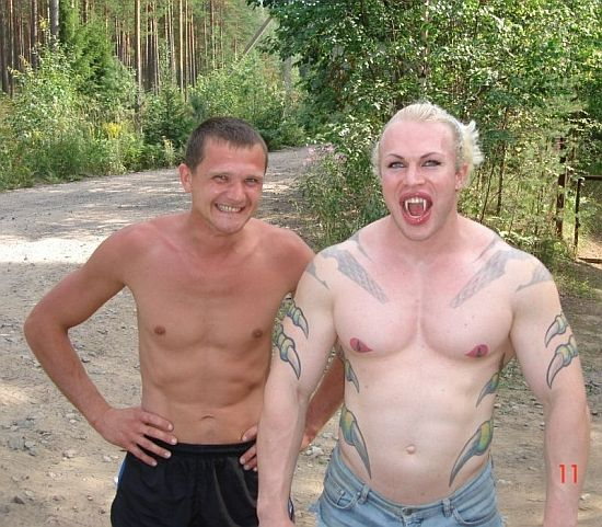 "Guy with ""nice"" tattoos"