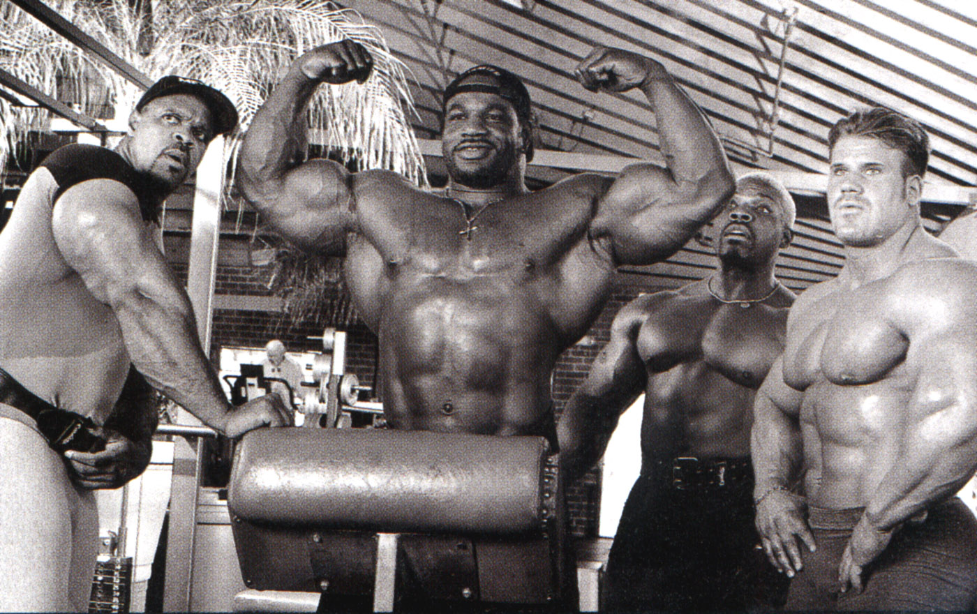 JAY CUTLER, PAUL DILLET, CHRIS CORMIER & MELVIN ANTHONY PHOTO SHOOT - OLD FLEX SCANS