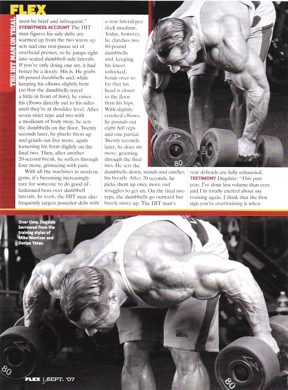 MARK DUGDALE' ARTICLE - THE HIT MAN ON TRIAL (FLEX SEPT. 07 SCAN)