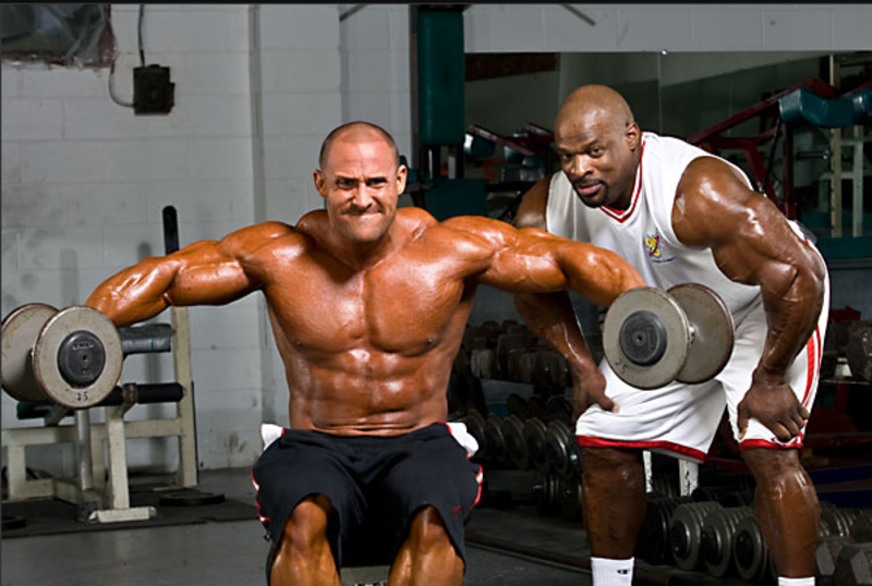 Ronnie Coleman  & Trey Brewer-Team BSN  bloopers from 2008