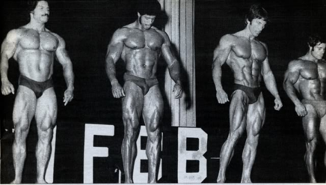 BLACK & WHITE 1976 Mr. OLYMPIA PICTURES