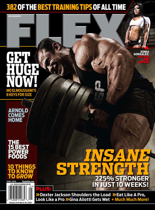 Flex magazine cover for May 2009.