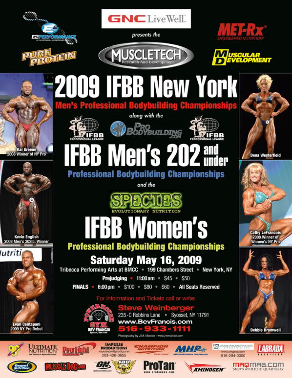 2009 New York Pro Men's Bodybuilding (info & competitors list)