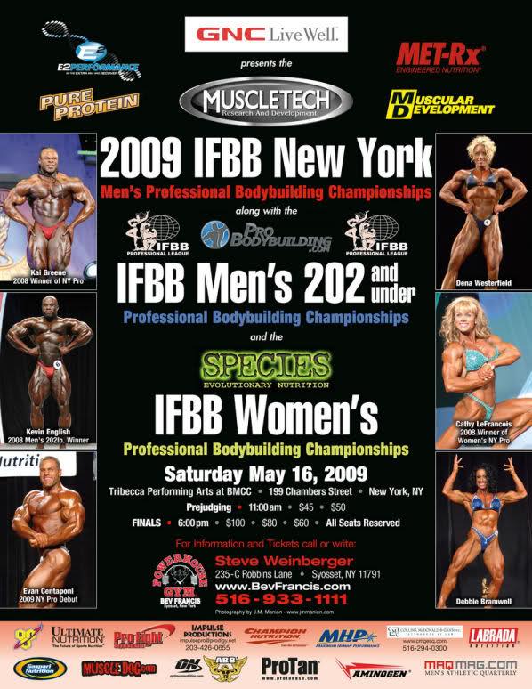 2009 New York Pro Men's Bodybuilding (info & competitors list)