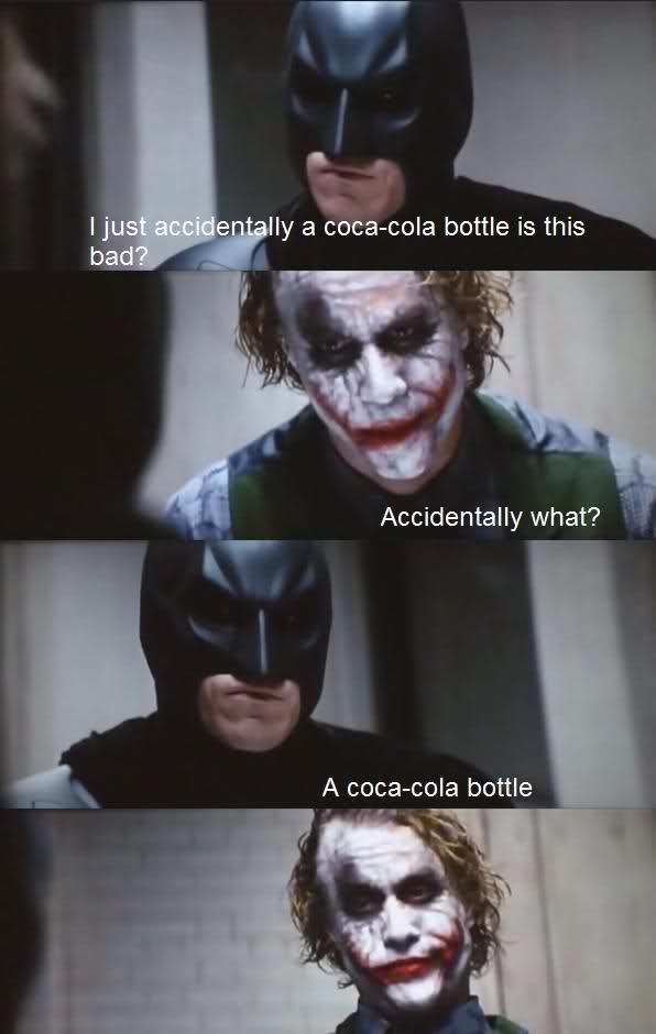 I just accidentally a Coca-Cola bottle
