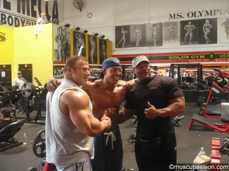 Yesterday at Gold's Gym Venice