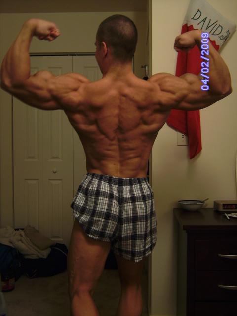 David Turk at the Mr.SRU overall posedown