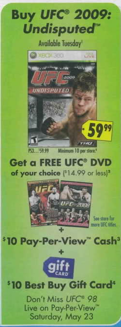 UFC Video Game (PS3/360)