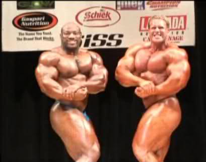 Jay Cutler and Dexter Jackson Guest Posing at the 2009 NPC Jay Cutler Classic