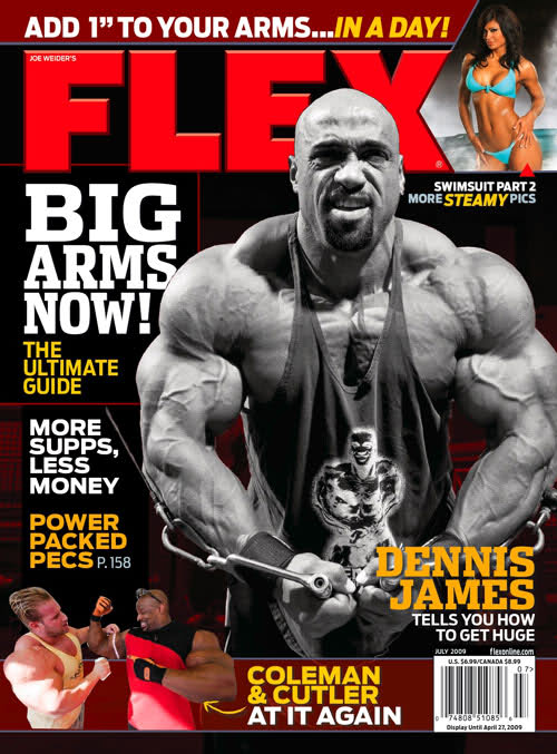 Flex mag cover for July 2009 (Dennis James)