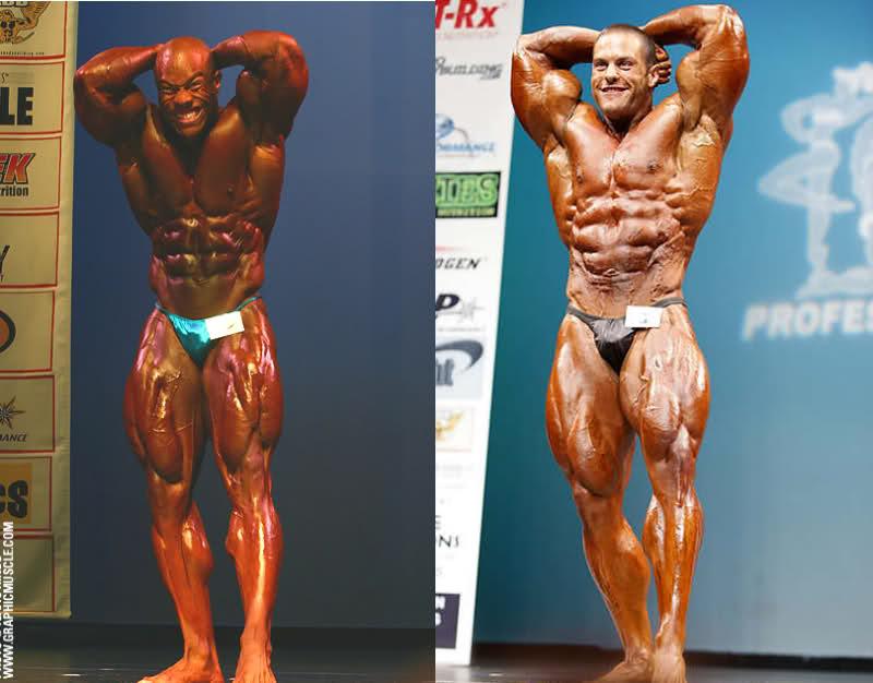 Phil Heath (2006 NY Pro) vs. Evan Centopani (2009 NY Pro)