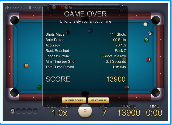 8 Ball quick fire challenge.