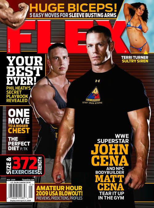 Flex mag cover for August 2009 (John Cena)