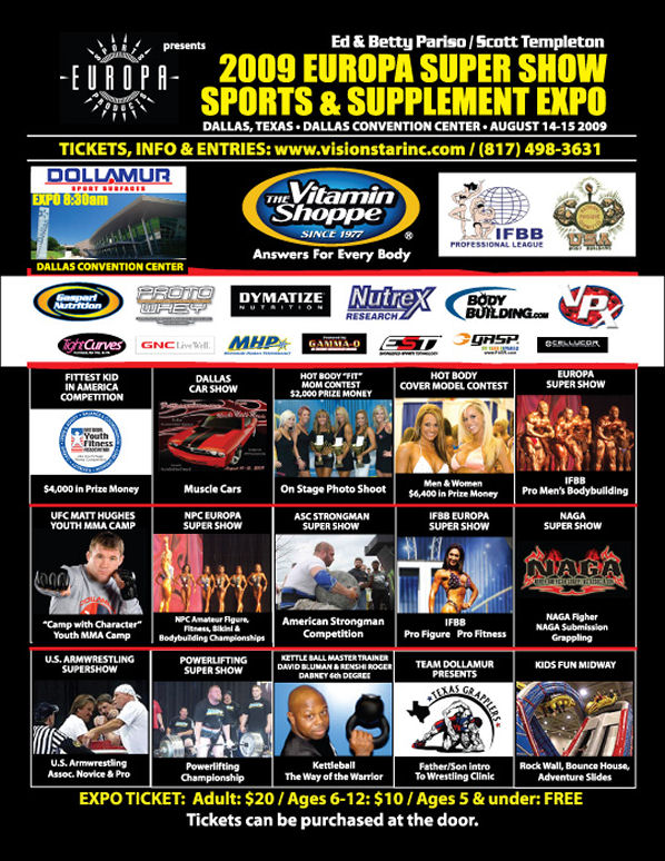 2009 Tampa Pro and Europa Super Show- Competitor list