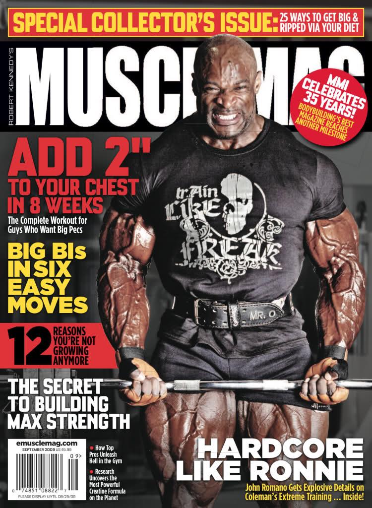 Musclemag cover for september 09
