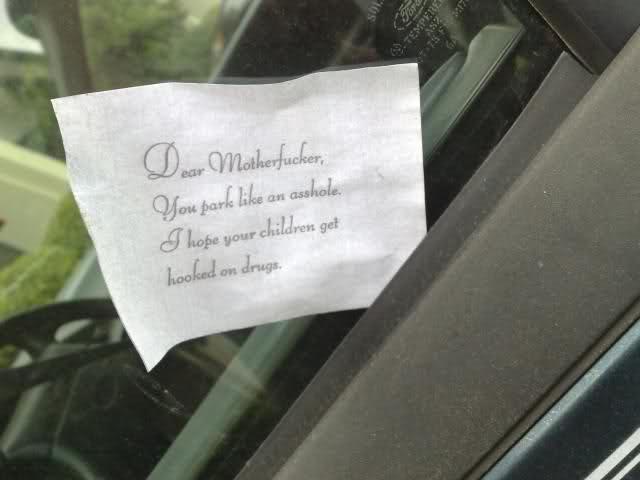 lol @ Parking Note!!!!