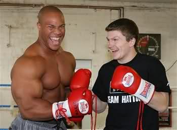 Phil Heath and Ricky Hatton