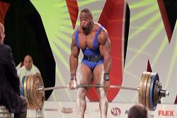 Johnnie Jackson Defeats Ben White at the 2009 Olympia Worlds Strongest Bodybuilder!