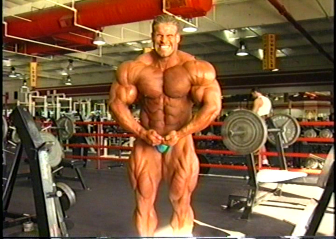Jay Cutler - one day after the 2001 Mr Olympia (training + posing)