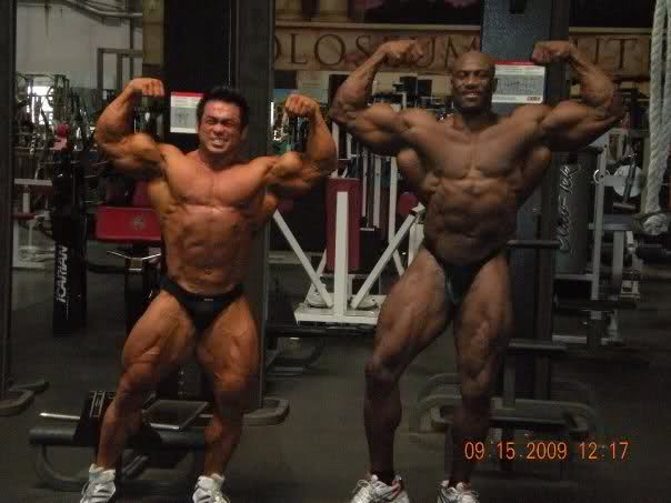 Hidetada and Joel Stubbs - 10 days out from the Olympia