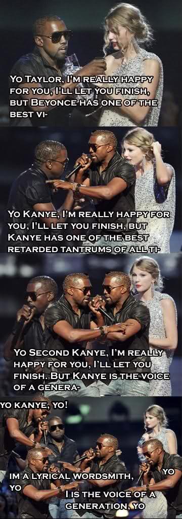 Kanye West pwns Taylor Swift