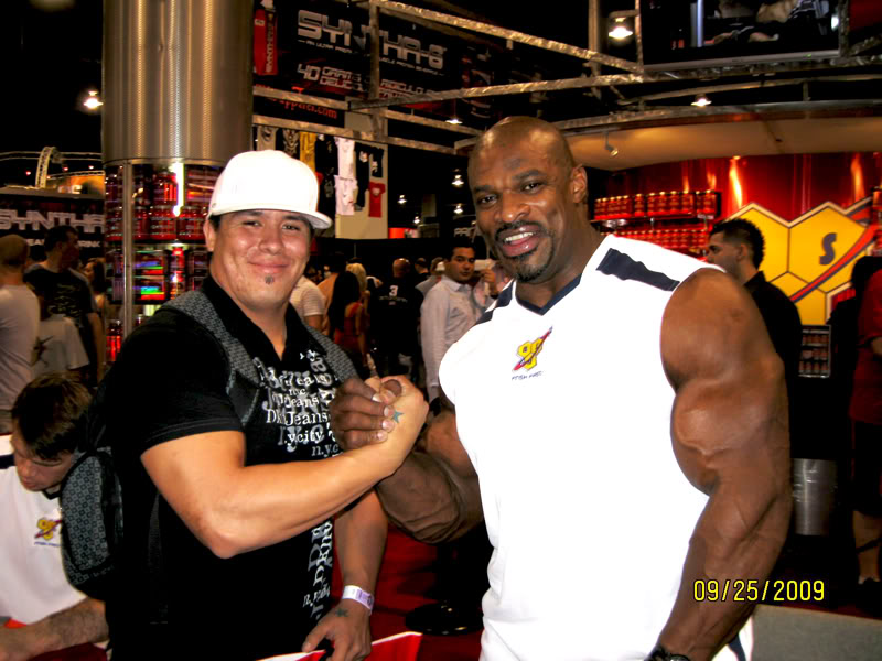 Ronnie Coleman and I at the 2009 Olympia Expo