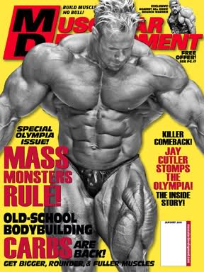 MD cover for January 2010! (Jay Cutler)