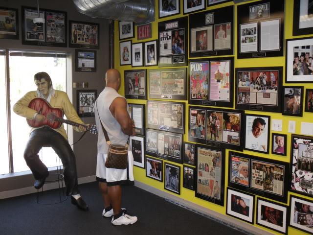 Phil Heath visits Ed Hardy's warehouse