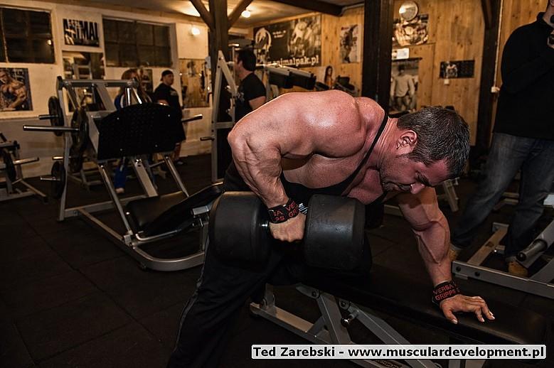 Flex Lewis, Mark Alvisi and Rich Gaspari training in Poland