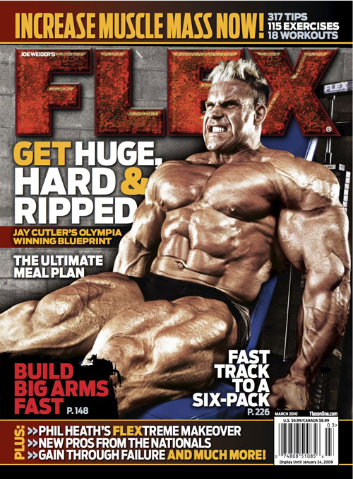 March cover of Flex Magazine with jay!