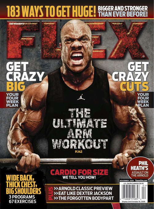 April cover of Flex Magazine ft. Phil!